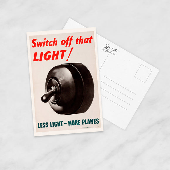POSTCARD: Switch Off That LIGHT!