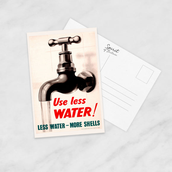 POSTCARD: Use Less WATER!