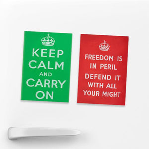 SET OF 2 MAGNETS: Keep Calm, Defend Freedom