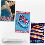 SET OF 3 MAGNETS: Keep Them Flying!