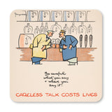 SET OF 4 COASTERS: CARELESS TALK (SET 2)