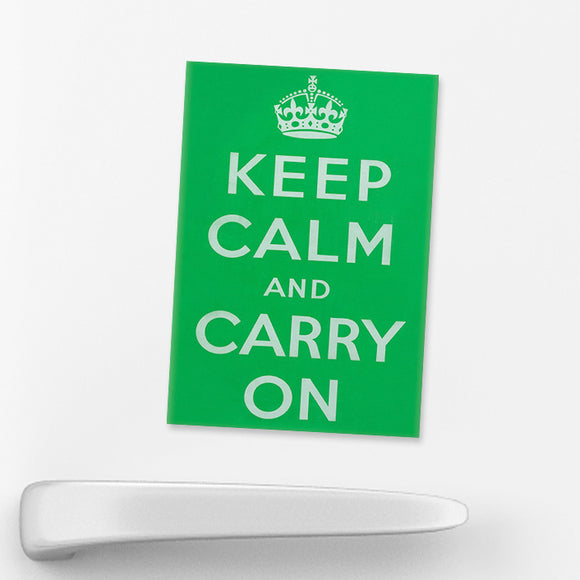 MAGNET: Keep Calm And Carry On (Green)