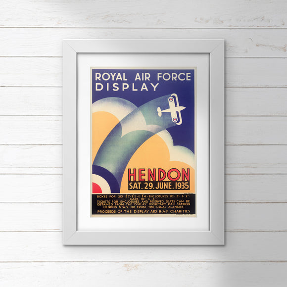 POSTER: Royal Air Force Display Hendon (29 June 1935)