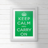 POSTER: Keep Calm And Carry On (Green)