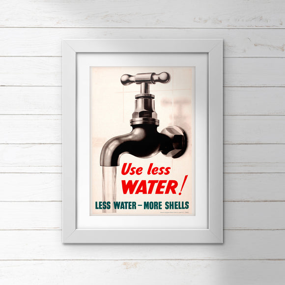 POSTER: Use Less WATER!