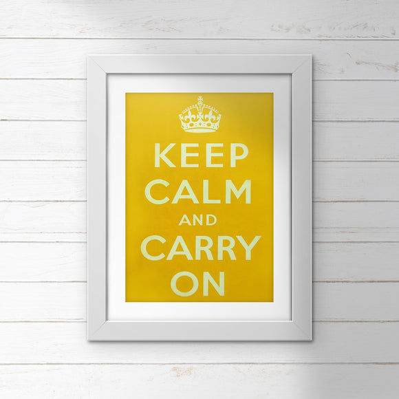 POSTER: Keep Calm And Carry On (Yellow)