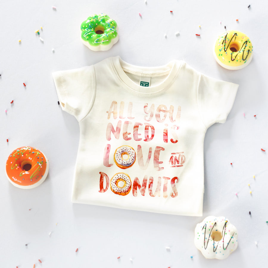 Morado Designs - Love and Donuts Bodysuit and Tee