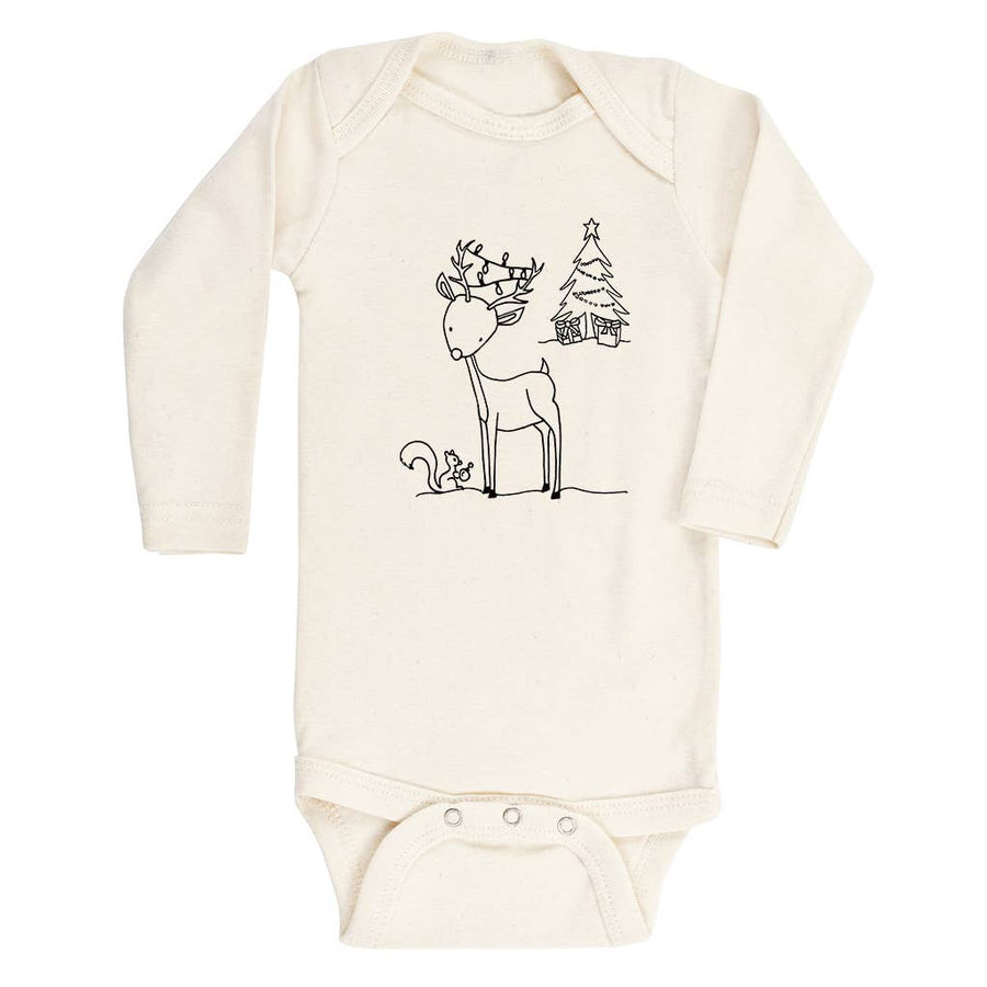 Tenth & Pine - Woodland Reindeer Long Sleeve Bodysuit