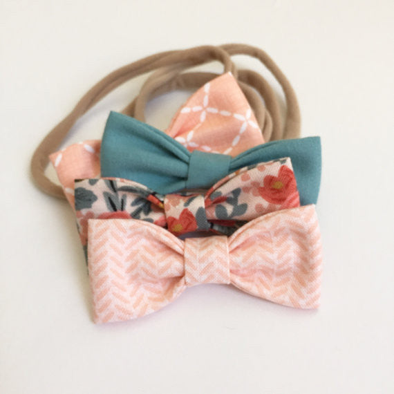 Lennon & Co Mini Hair Bow- Set of Two