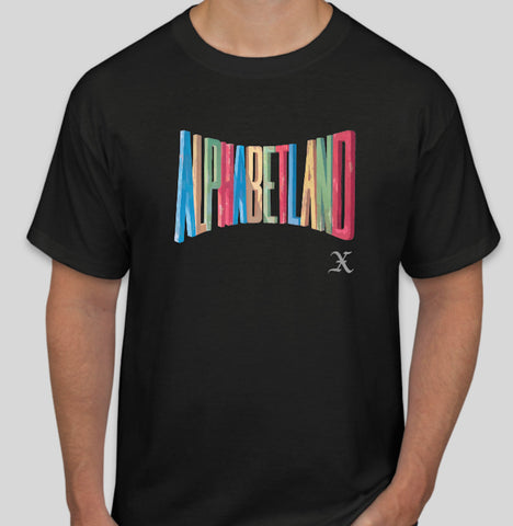 Black ALPHABETLAND T-Shirt