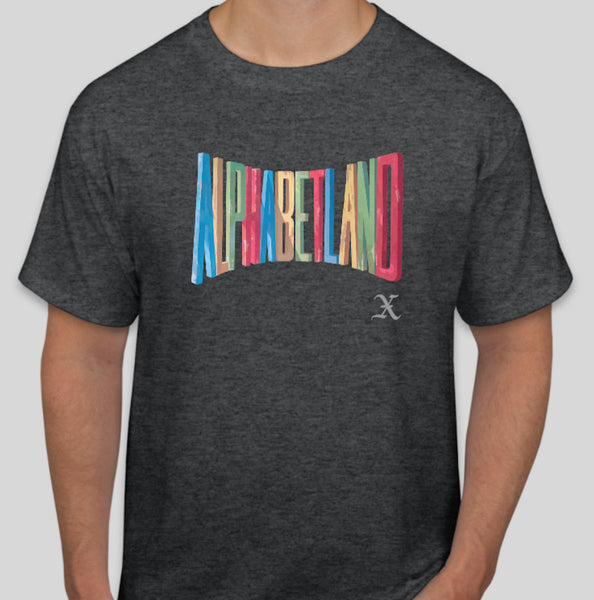Grey ALPHABETLAND T-Shirt