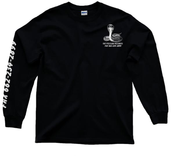 "Black and White ""Born To Party"" Long Sleeve Shirt"