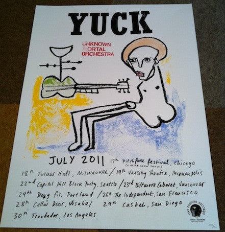 Yuck / Unknown Mortal Orchestra Screenprint Poster