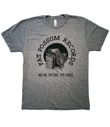 Light Grey Fat Possum Logo Shirt