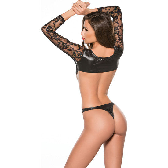 Body con Mangas Top Lace