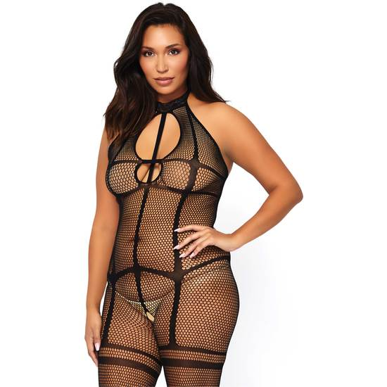 Bodystocking Escote Halter Plus