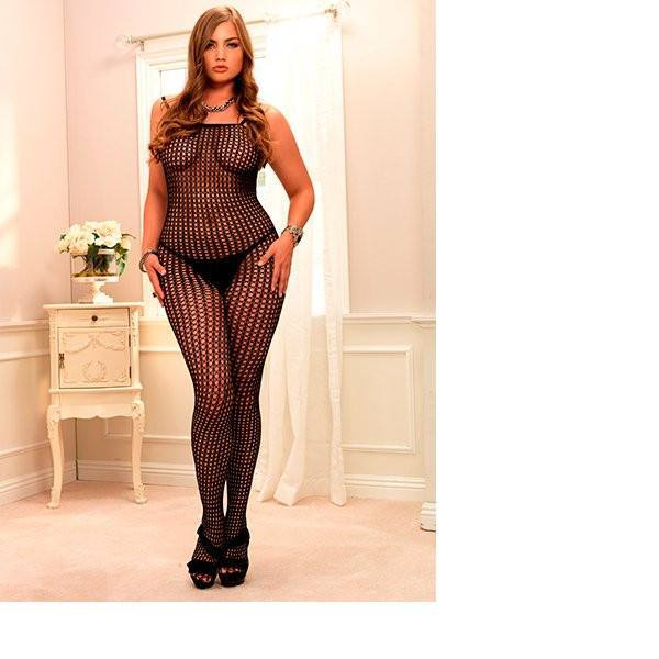 Bodystocking Sexy Crochet Plus - Sensualove - 1