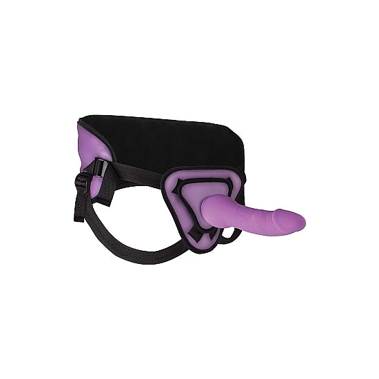 DELUXE SILICONE STRAP ON 10 INCH PURPLE