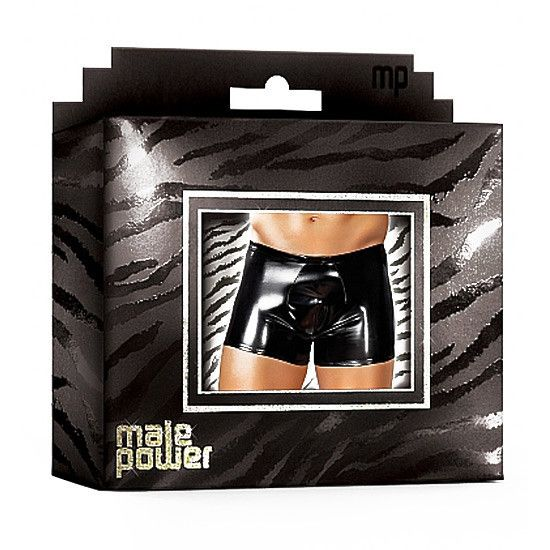 Male Power Boxer Efecto Latex Negro - Sensualove - 4