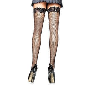 LEG AVENUE FISHNET STOCKINGS WITH CORSET LACE TOP. - Sensualove - 2