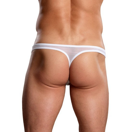 MALE POWER TANGA TRANSPARENCIAS BLANCO - Sensualove - 4