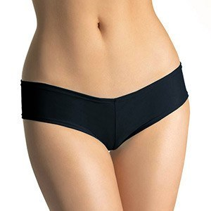 LEG AVENUE BOOTY SHORTS WITH HALF BACK COVERAGE BLACK. - Sensualove - 2