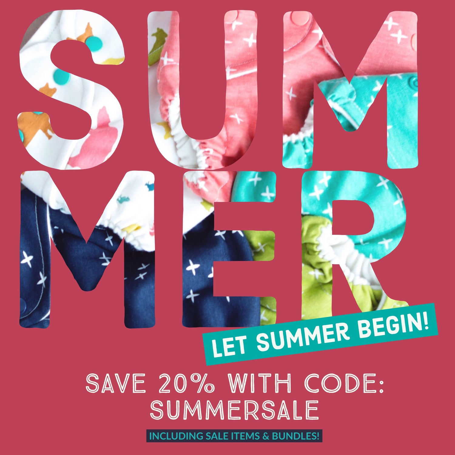 Summer sale 20% off with code
