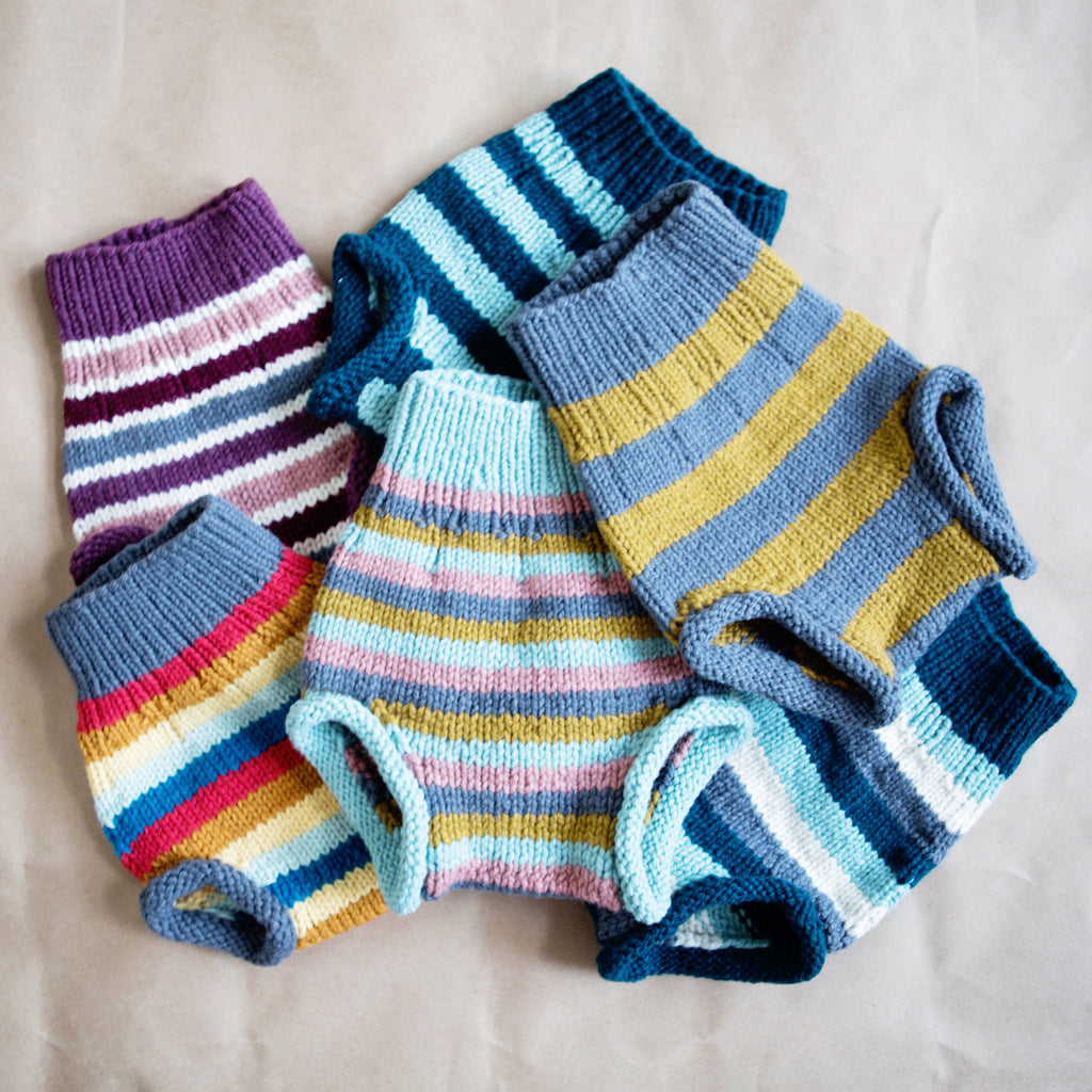 Small Camper Hand Knit Organic Wool Soaker One Love Diaper Co