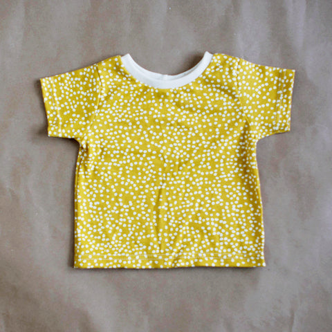 Organic Cotton Slouchy Tee - Firefly Dot Marigold - One Love Diaper Co.