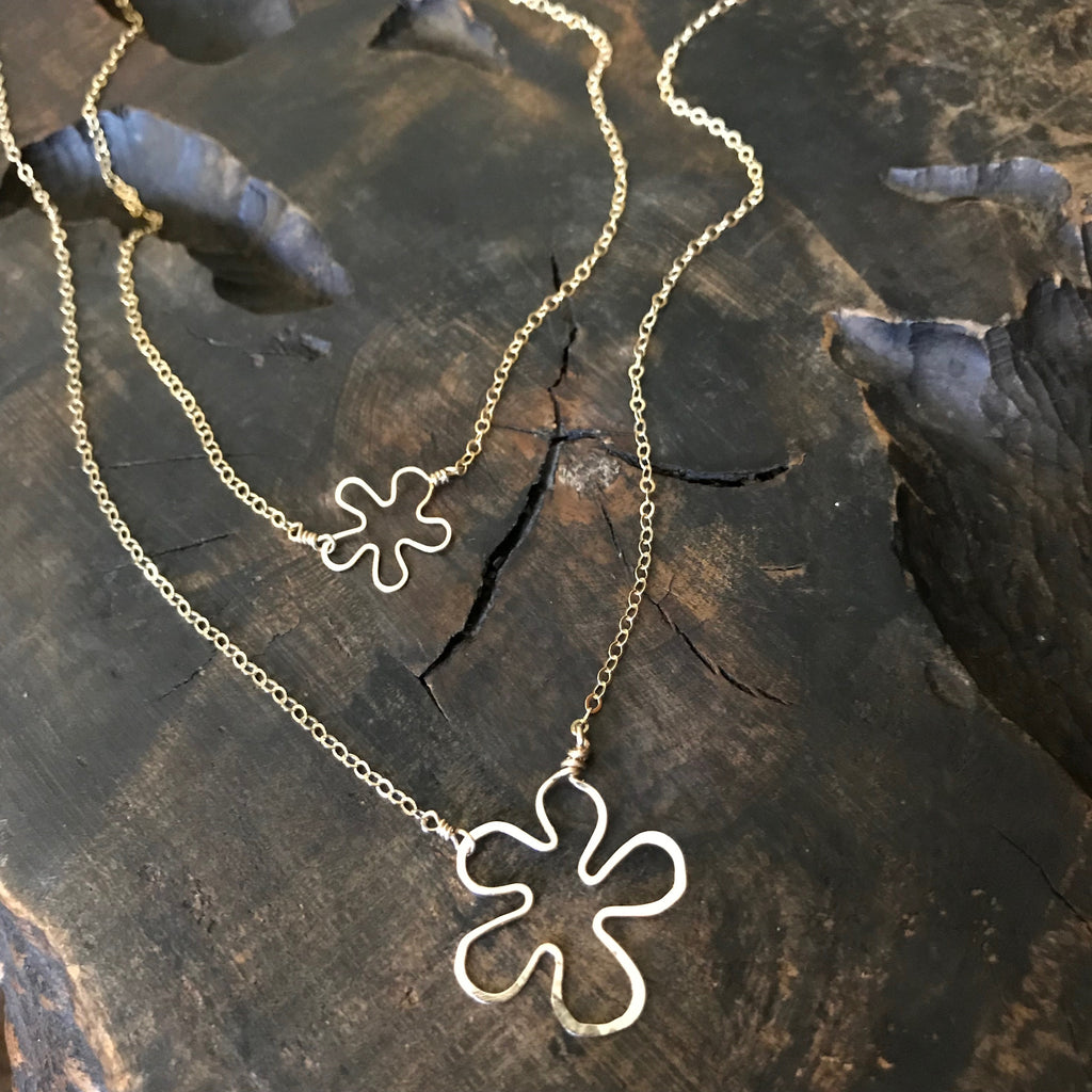 Matching Flower Necklaces for Mother & Daughter