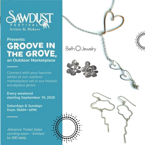 Beth Jewelry at Marketplace in the grove at Sawdust Art Festival