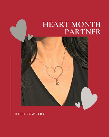 beth jewelry classic heart necklace fundraiser for scad alliance