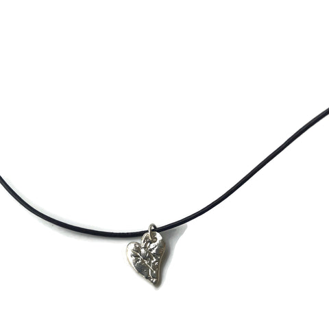 Harvest Charm small silver heart necklace