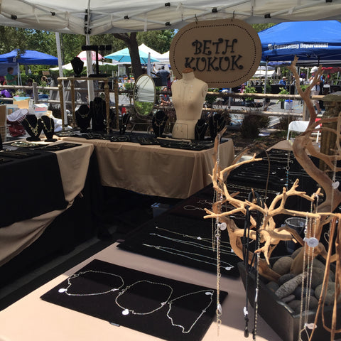 Beth Jewelry booth picture from Arts Alive 2017