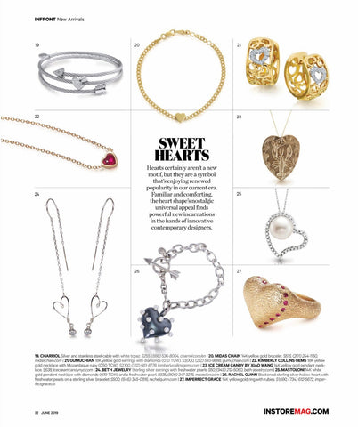 Beth Jewelry featured in Instore Magazine June 2019