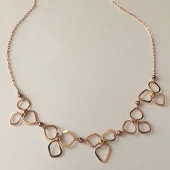 rose gold blossoms necklace