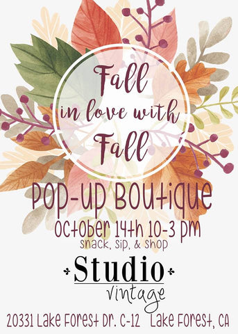 Studio Vintage Pop Up