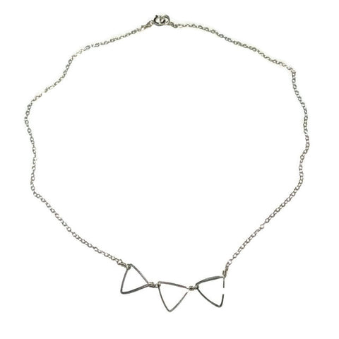 3 Tiny Triangles Necklace