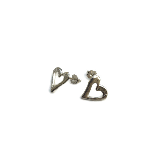 Harvest Charm Open Heart Post Earrings