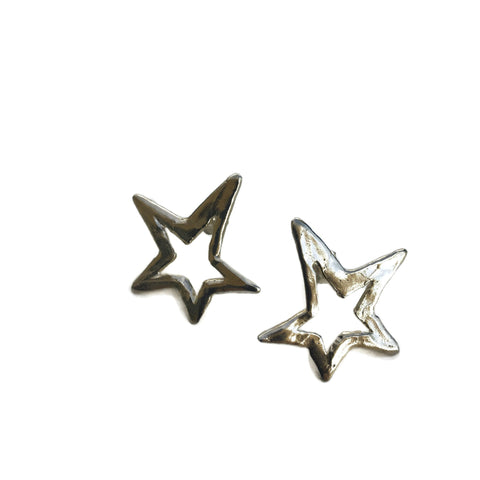 Harvest Charm Open Star Post Earrings