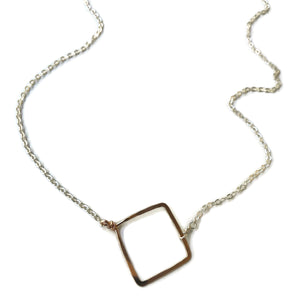 beth jewelry medium square necklace