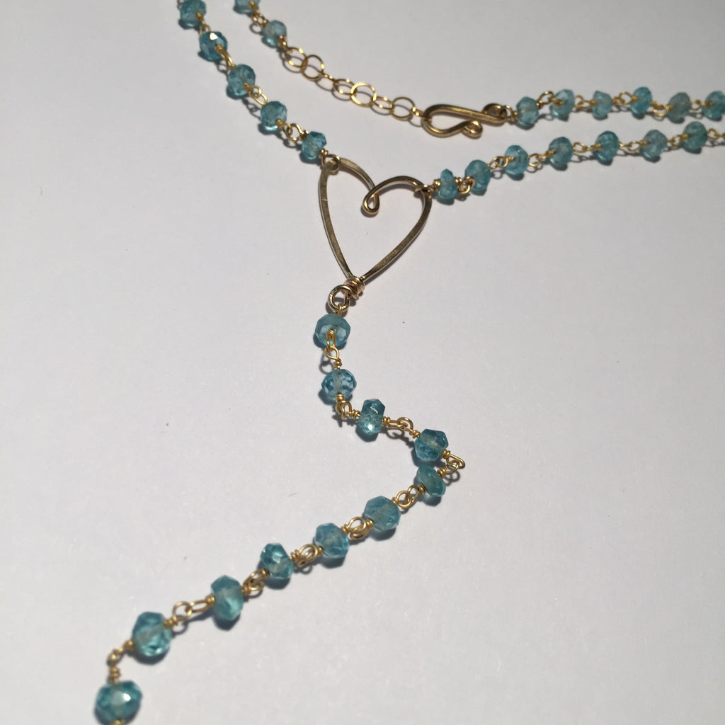Rosary Style Heart Necklace