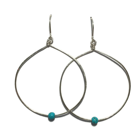 Big Circle Earrings with Turquoise