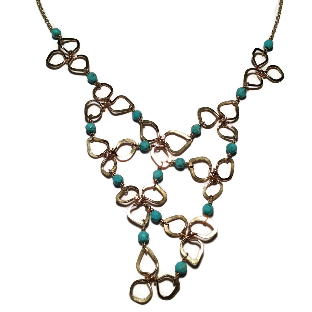 Beth Jewelry, handmade cascading blossoms necklace