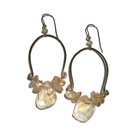 Citrine Sea Earrings