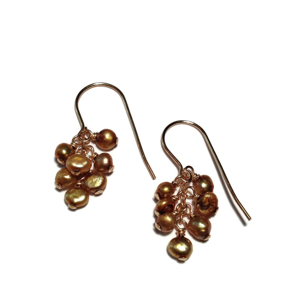 Beth Jewelry, handmade cluster beaded earrings