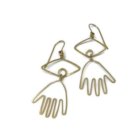 Hand Eye Earrings
