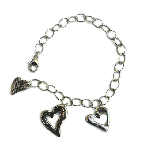 Hearts of Love Charm Bracelet