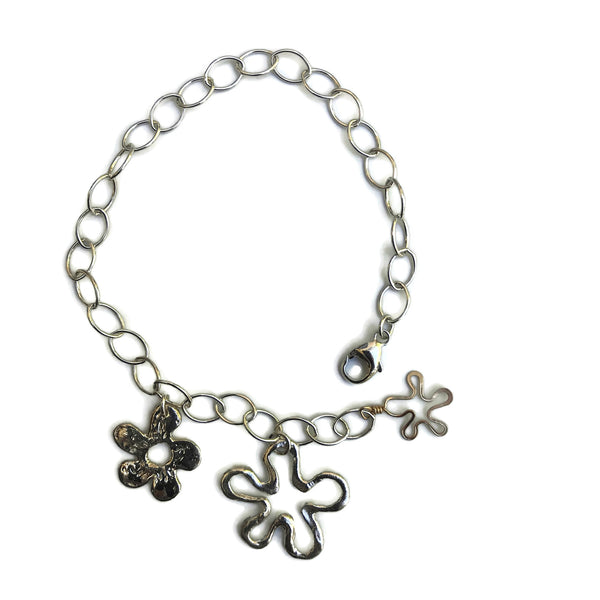 harvest charm hand crafted flower charm bracelet