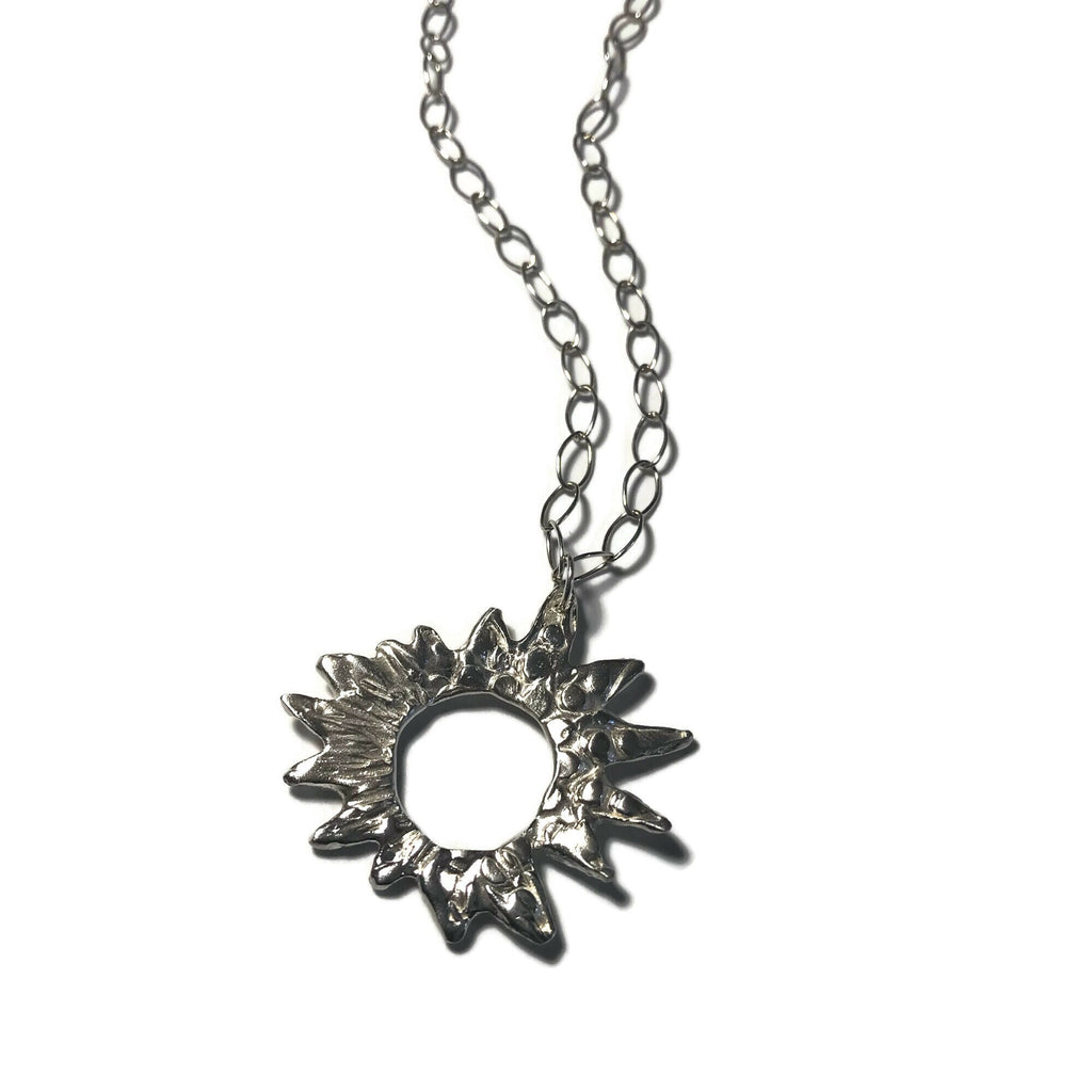 Harvest Charm Sunburst Pendant Necklace